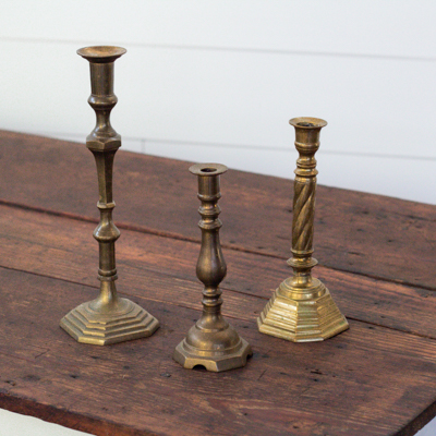Leland Brass Candle Holders