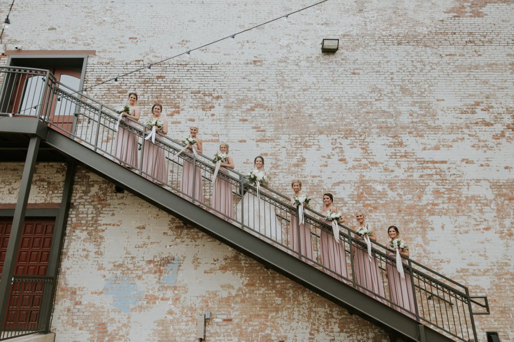 Bridal Party Photo Idea at Brik Venue - Fort Worth, TX