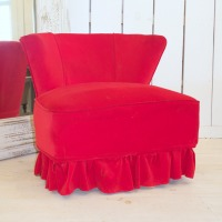 red slipper chair for event rental