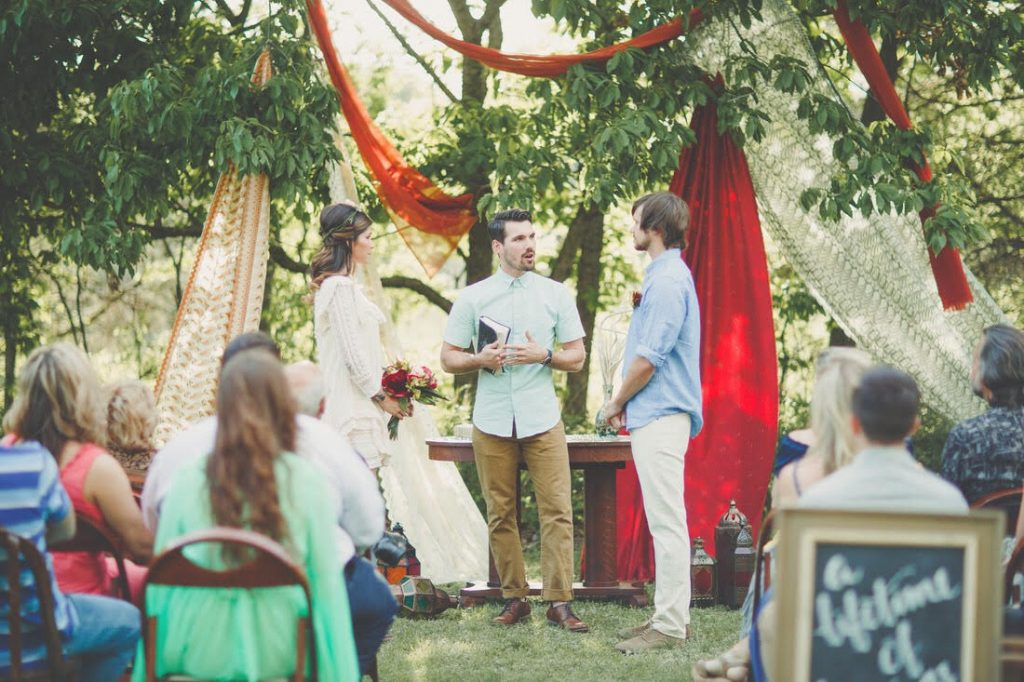 Back Yard Bohemian Wedding