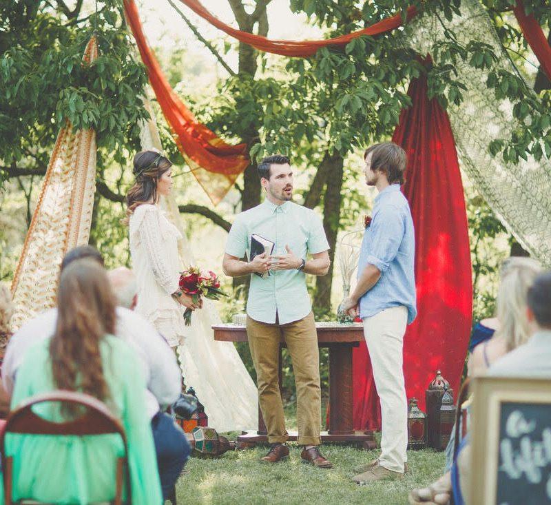 Back Yard Bohemian Wedding