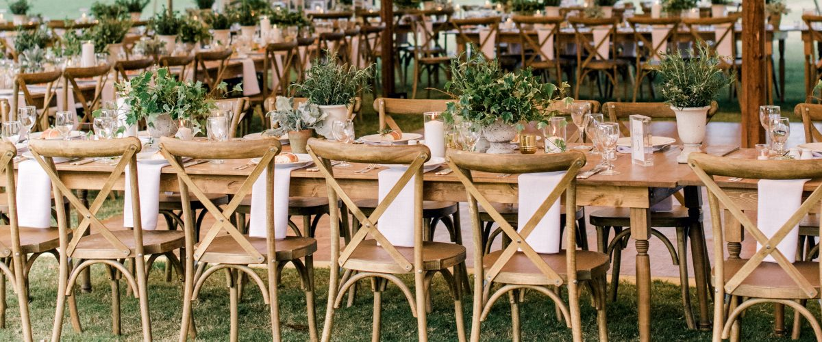 Farm Tables and Crossback Chairs