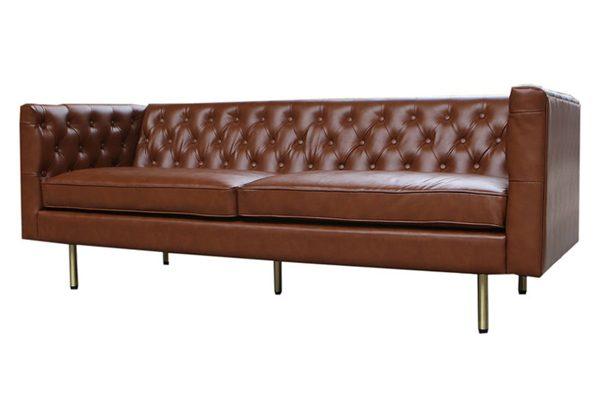 Fenwick Leather Sofa • Dallas Event Rentals | Sugar Creek ...