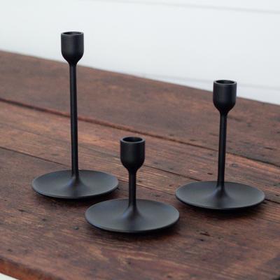 Modern Black Candle Holders