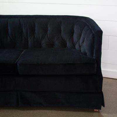 Iris Black Velvet Sofa
