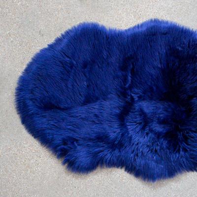 Navy Faux Fur Rug